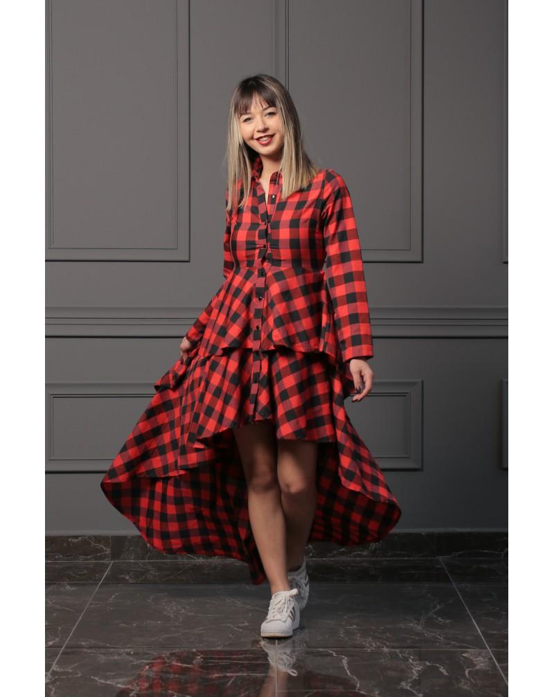 Oduncu Gömlek Elbise